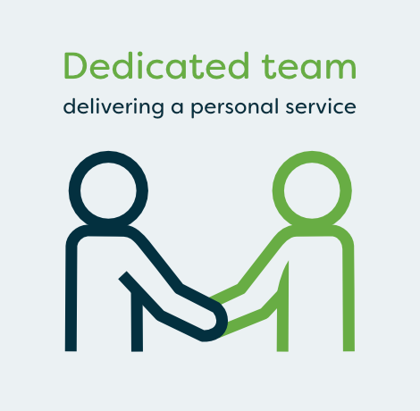 Dedicated team delivering a personal service